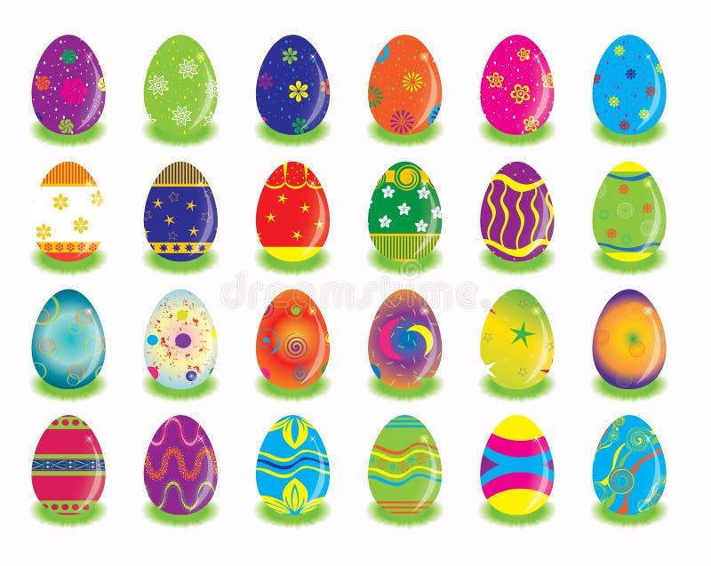 Oostelijk Konijn dat eierenkleur zoekt stock illustratie