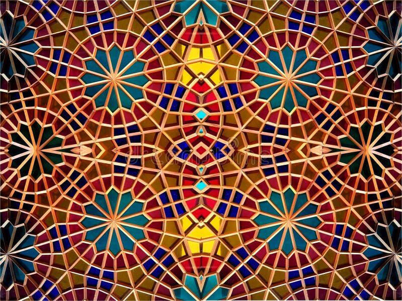 Oostelijk mozaïek Oostelijke fantasie Patronen en ornamenten stock foto