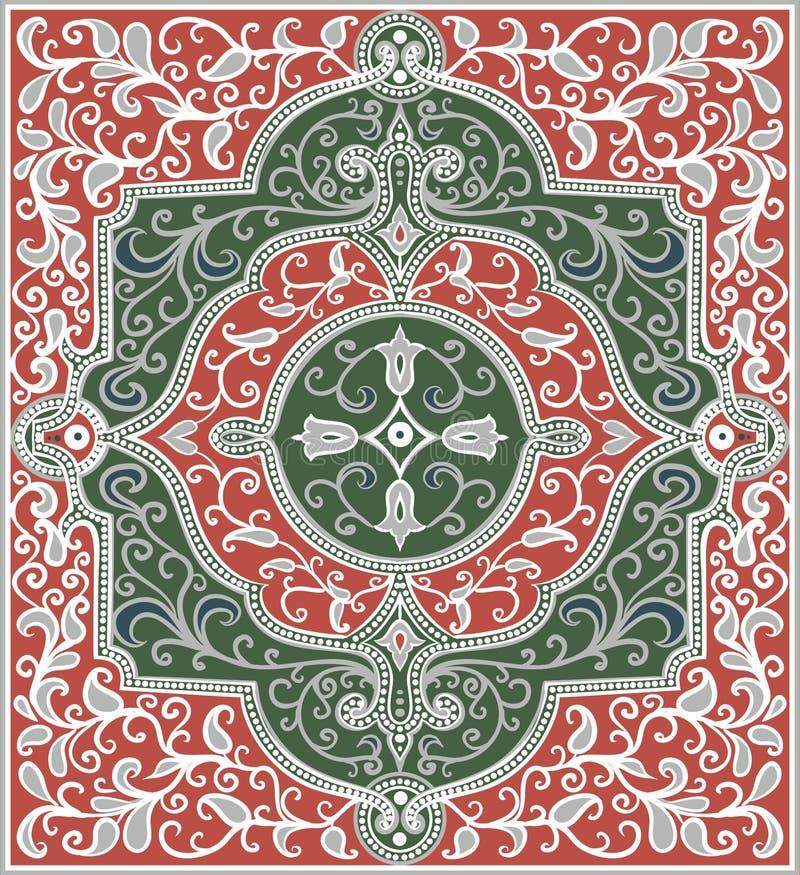 Oostelijk rechthoekig patroon stock illustratie