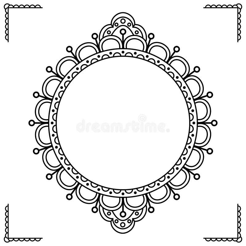 Oostelijk stijl sierkader royalty-vrije illustratie