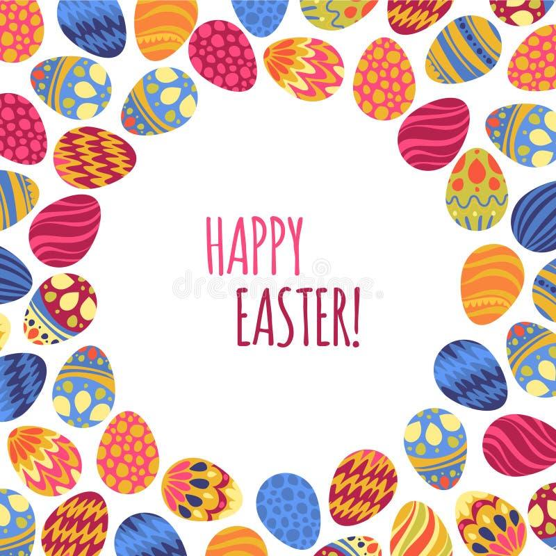 Oostelijke eieren Vector illustratie Vectorpatroon met kleurrijke eieren stock illustratie