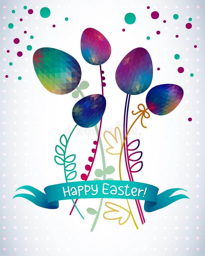 Oostelijke eieren Vector illustratie Vectorpatroon met kleurrijke eieren vector illustratie