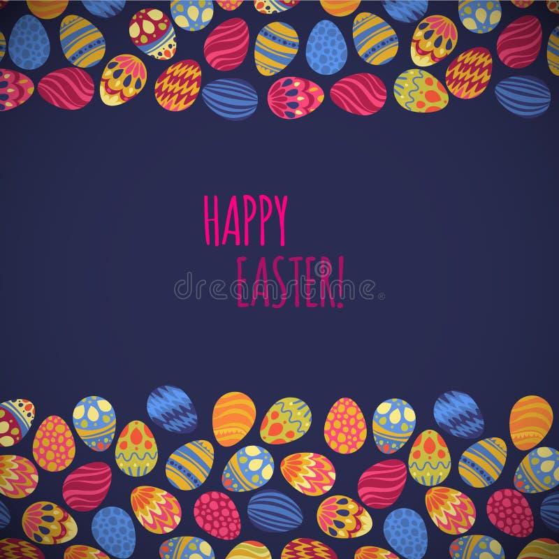 Oostelijke eieren Vector illustratie Vectorpatroon met kleurrijke eieren royalty-vrije illustratie