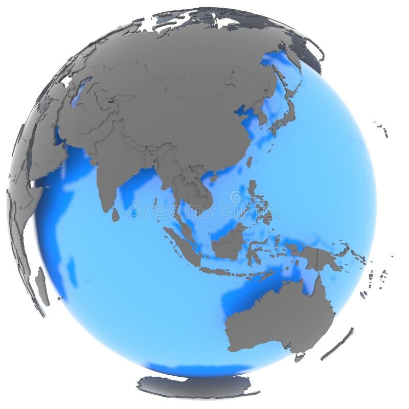 Oostelijke Hemisfeer op de planeet