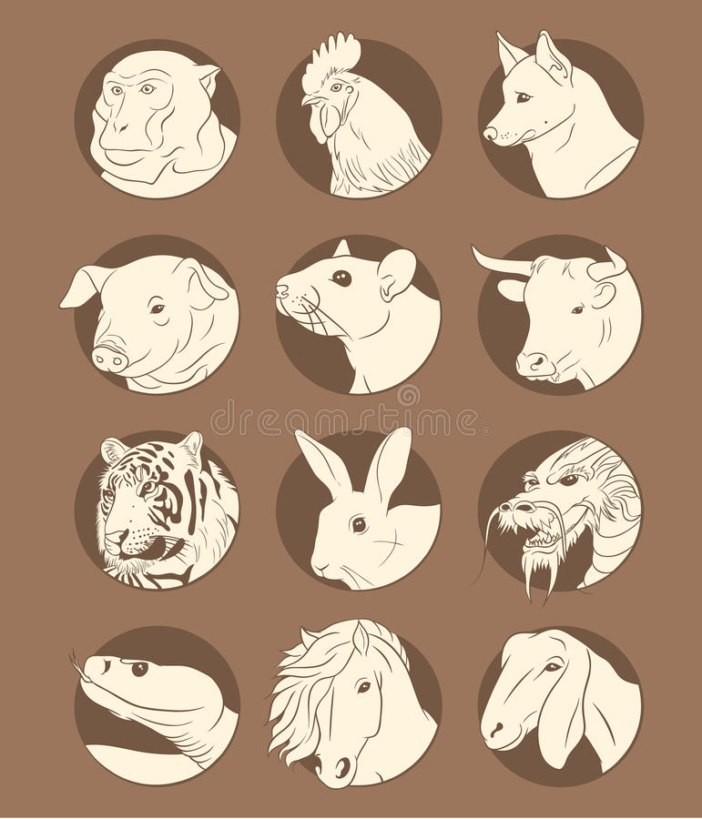Oostelijke horoscoop royalty-vrije stock fotografie