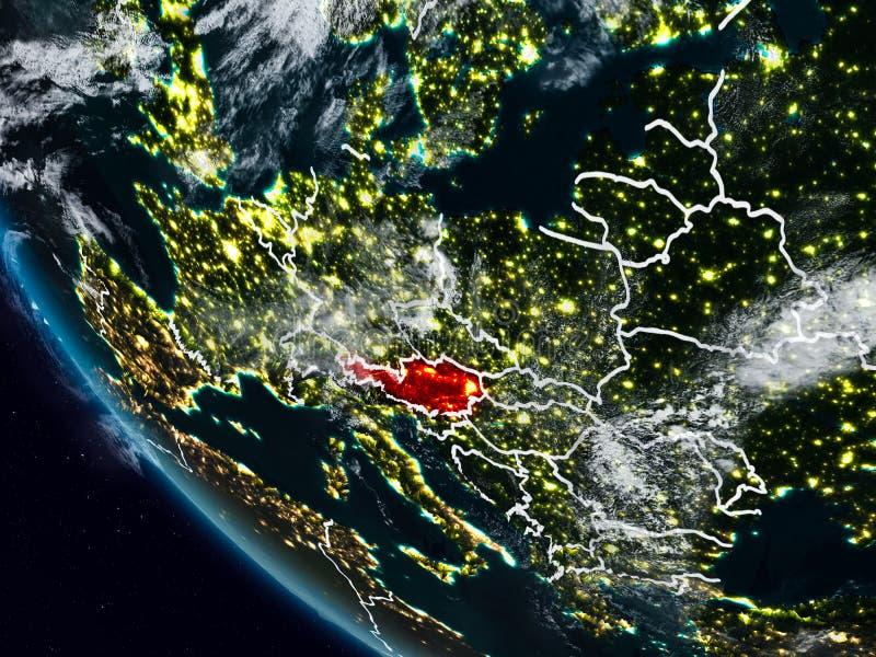 Oostenrijk bij nacht van ruimte vector illustratie