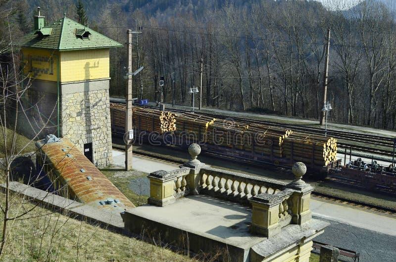 Oostenrijk, Semmering-Spoorweg stock afbeelding