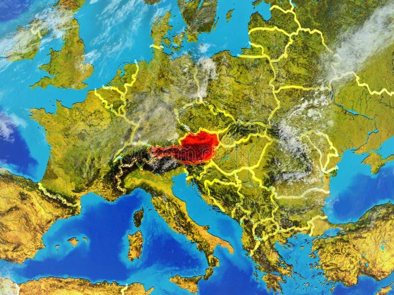 Oostenrijk ter wereld van ruimte royalty-vrije illustratie
