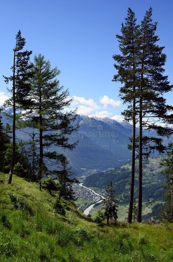 Oostenrijk, Tirol, Herbergenvallei royalty-vrije stock foto