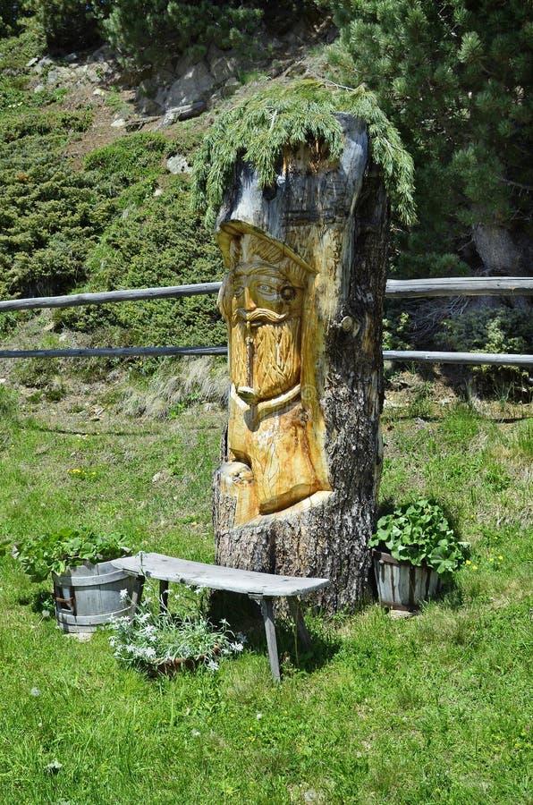 Oostenrijk, Tirol, het woodcarving stock afbeelding