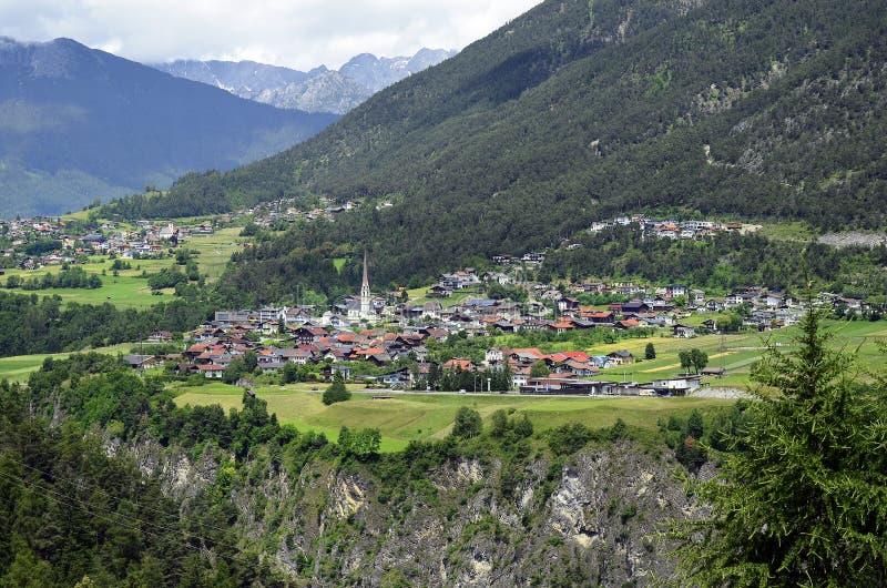 Oostenrijk, Tirol, Pitztal-Vallei stock afbeelding