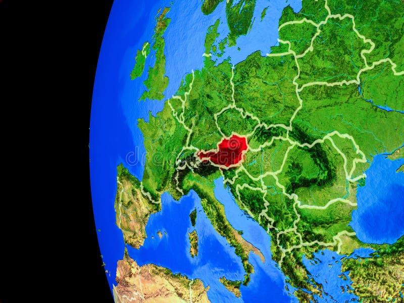 Oostenrijk van ruimte vector illustratie
