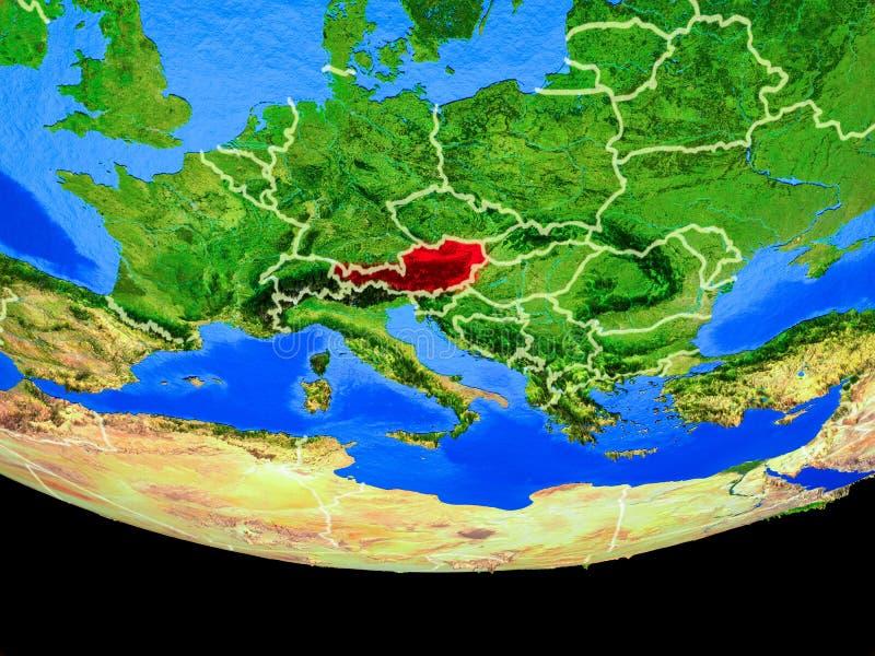 Oostenrijk van ruimte ter wereld stock illustratie
