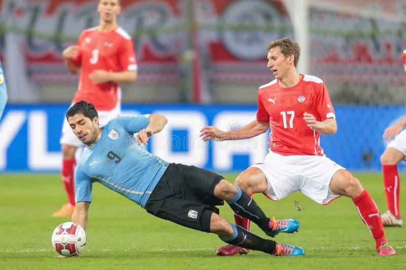 Oostenrijk versus België uruguay royalty-vrije stock foto's