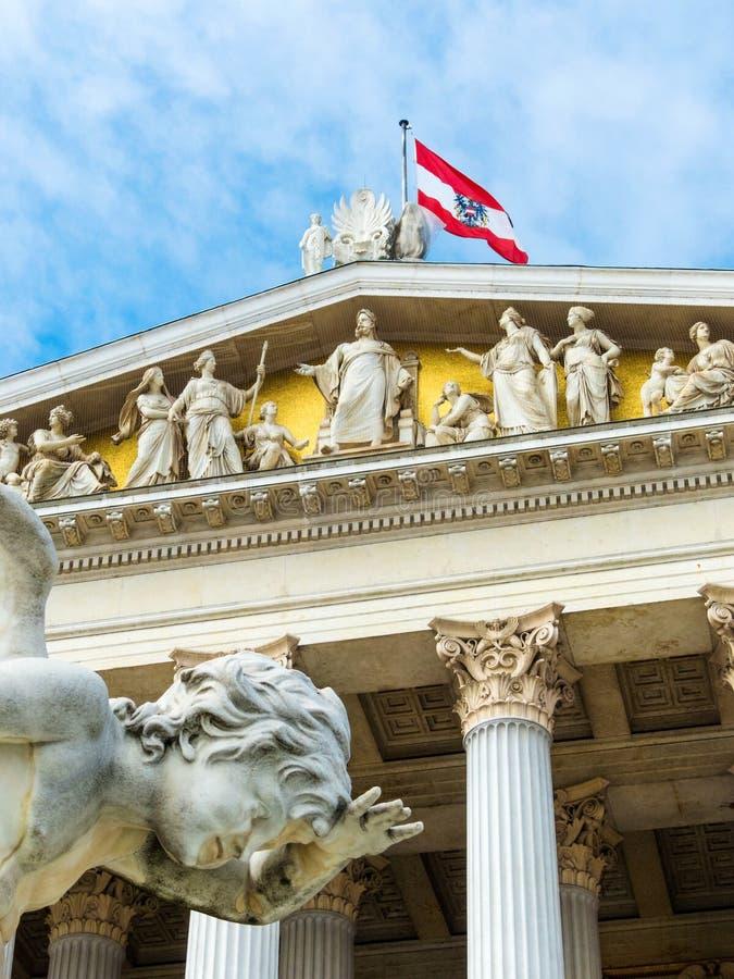 Oostenrijk, Wenen, het Parlement royalty-vrije stock afbeelding