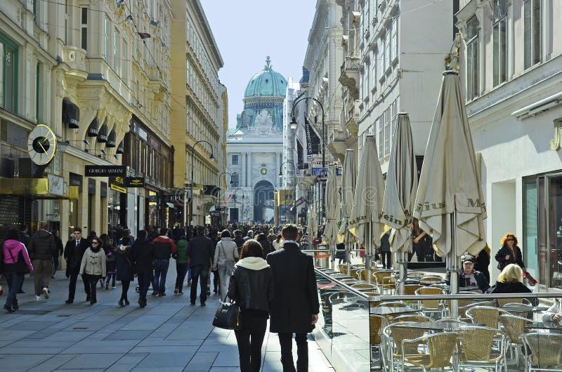 Oostenrijk, Wenen, Kohlmarkt royalty-vrije stock foto
