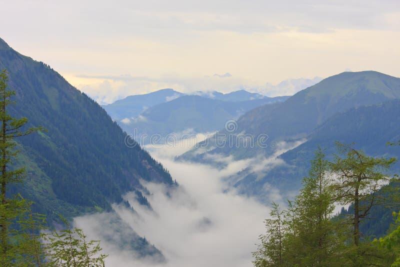 Oostenrijkse Alpen van het Nationale Park van Hohe Tauern royalty-vrije stock foto