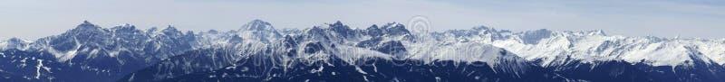 Oostenrijkse Mountainrange royalty-vrije stock fotografie