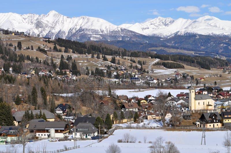 Oostenrijkse stad van Mauterndorf stock fotografie