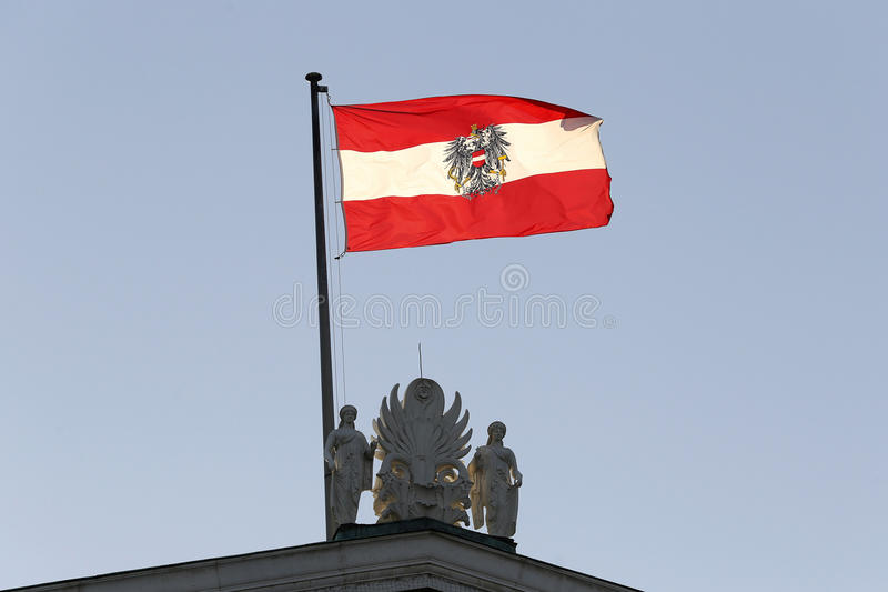 Oostenrijkse vlag royalty-vrije stock afbeelding
