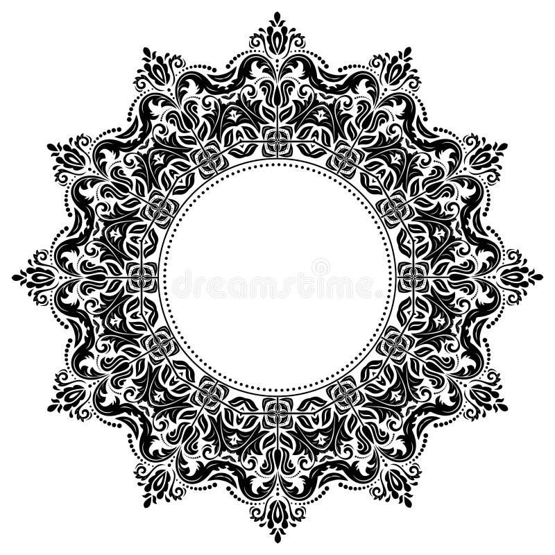 Oosters Abstract Vectorpatroon stock illustratie