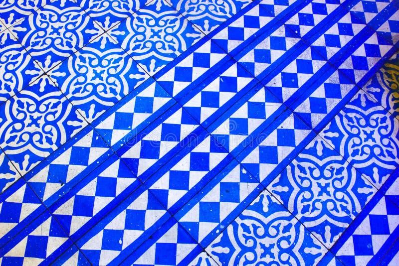 Oosters Blauw en Wit Patroon royalty-vrije stock fotografie
