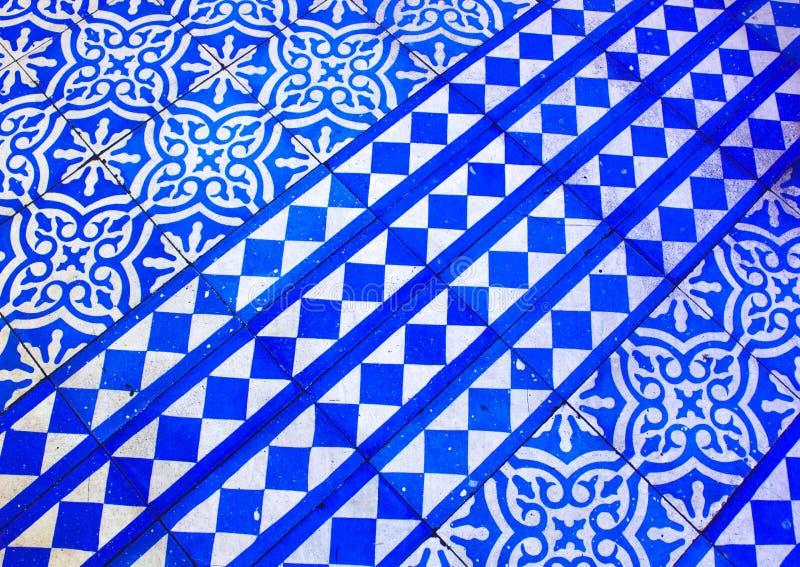 Oosters Blauw en Wit Patroon stock foto