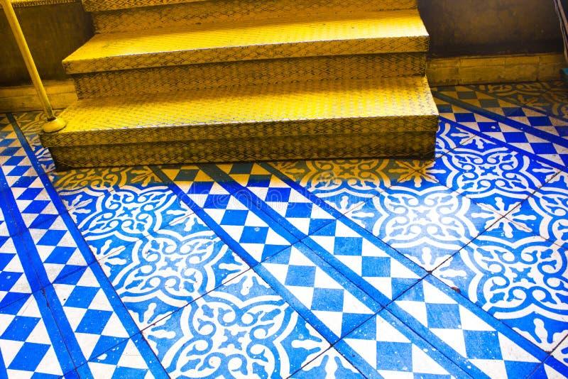 Oosters Blauw en Wit Patroon royalty-vrije stock afbeelding