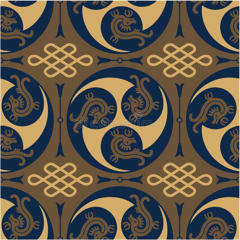 Oosters - Japanner - Authentiek Naadloos Patroon royalty-vrije illustratie