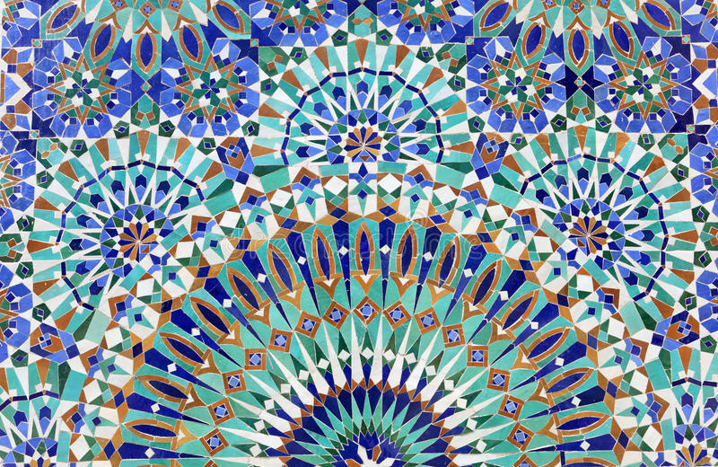 Oosters Mozaïek in Marokko stock fotografie