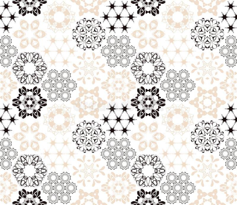 Oosters naadloos lapwerkpatroon Hexagonale keramische tegel vector illustratie