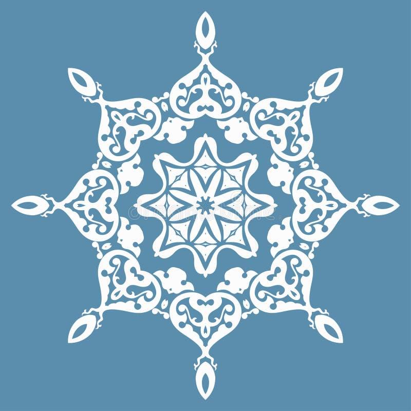 Oosters patroon met arabesques en bloemenelementen royalty-vrije illustratie