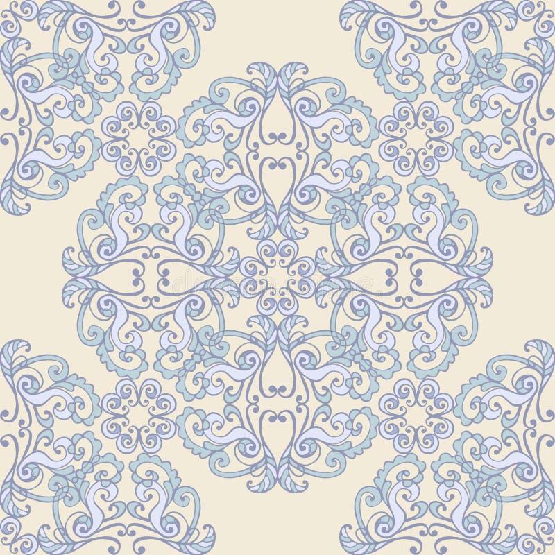 Oosters rond kleurrijk ornament Naadloze vector overladen achtergrond stock illustratie