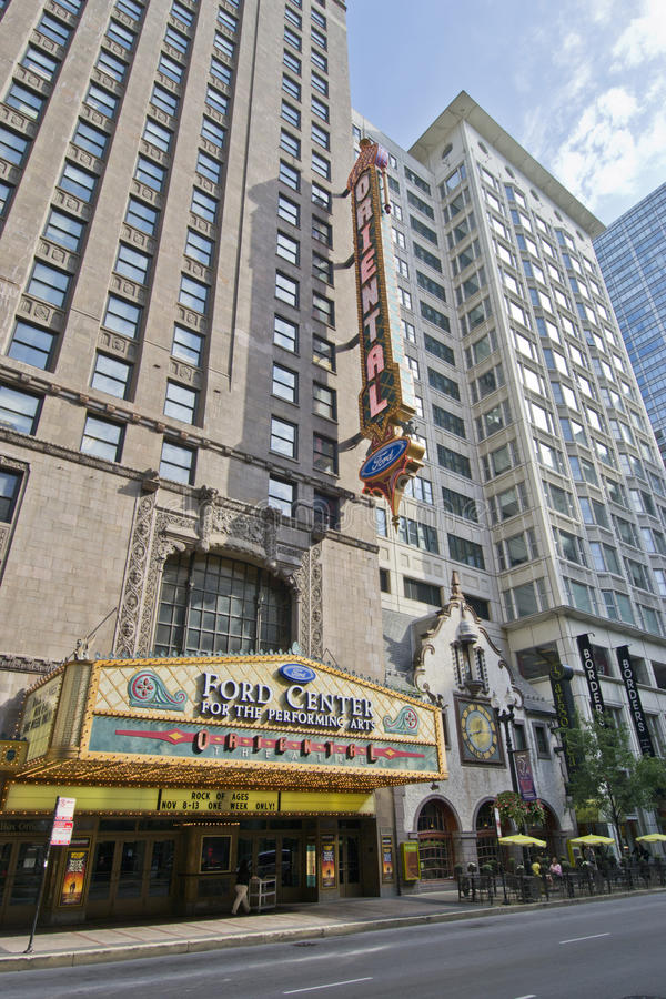 Oosters Theater in Chicago royalty-vrije stock afbeelding