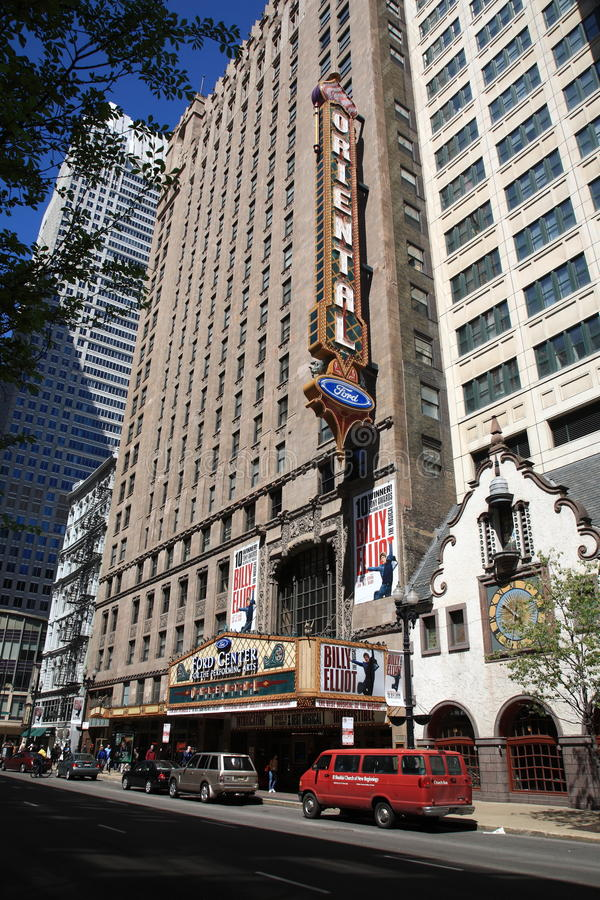 Oosters Theater - Chicago, Illinois royalty-vrije stock foto