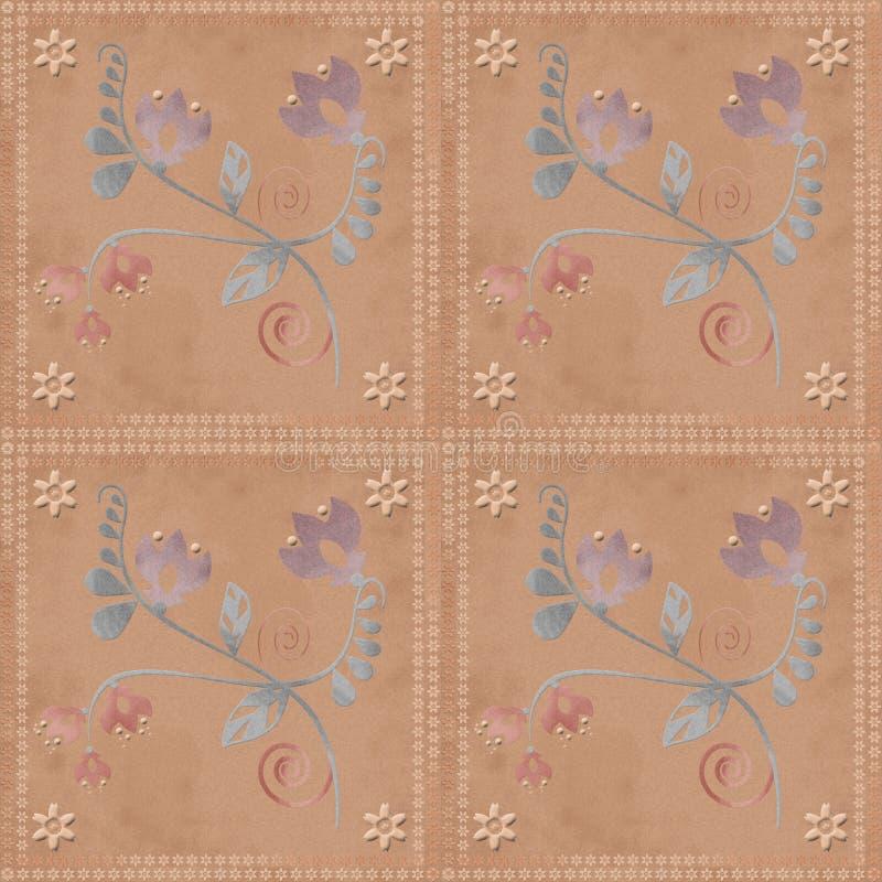 Oosters traditioneel bloemenornament naadloos patroon vector illustratie