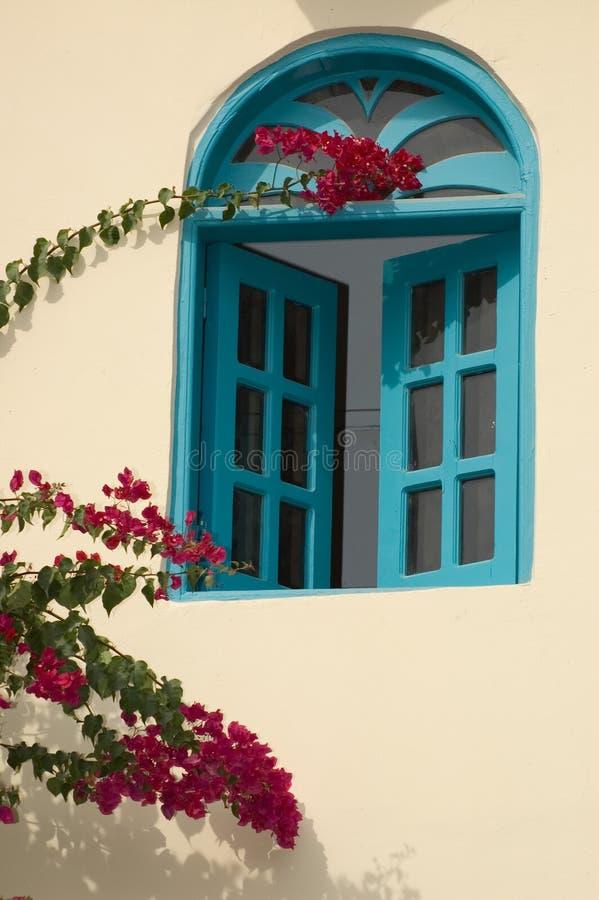 Oosters venster stock afbeelding
