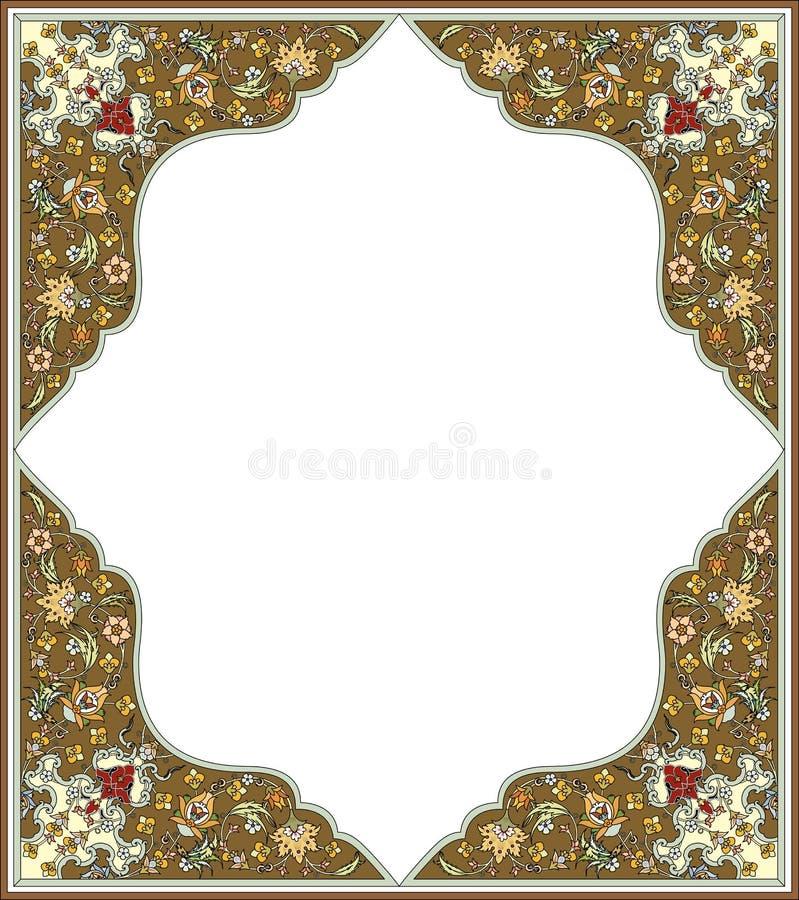 Oosters versierd kader royalty-vrije illustratie