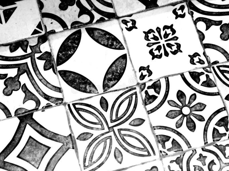Oosters zwart-wit patroon royalty-vrije stock fotografie
