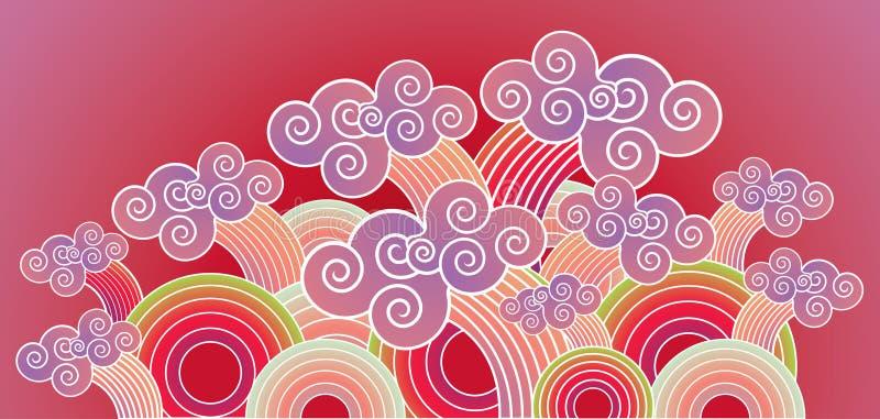 Oosterse Golven royalty-vrije illustratie