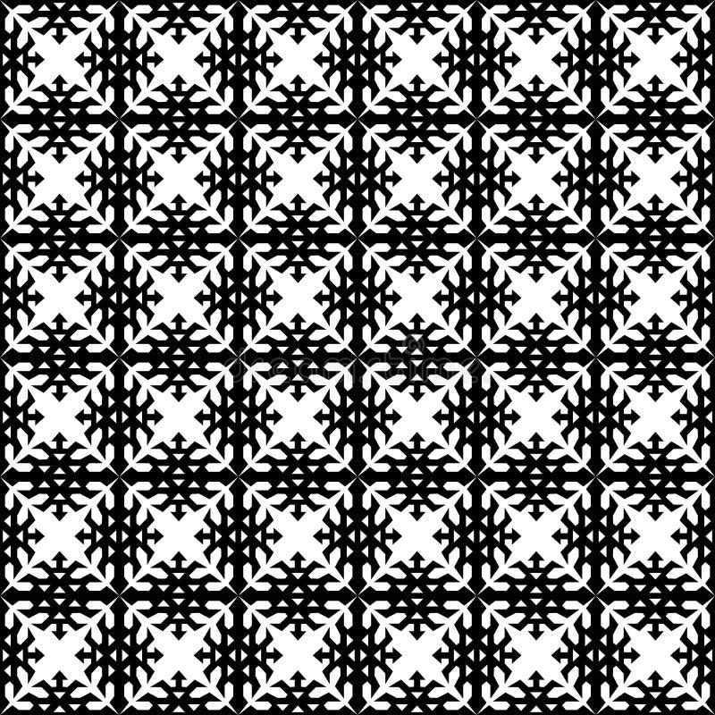Oosterse Islamitische Arabische Afrikaanse naadloze geometrische patroon vector etnische uitstekende retro achtergrondontwerpkuns vector illustratie
