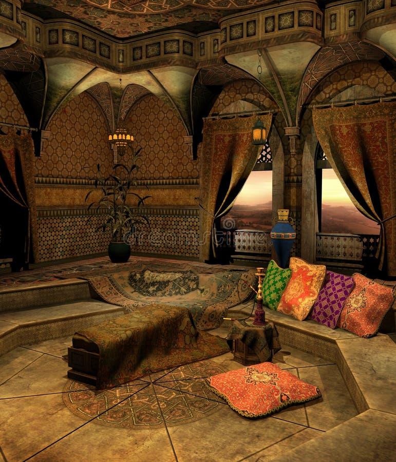 Oosterse kamer 2 stock illustratie. Illustratie bestaande uit ...