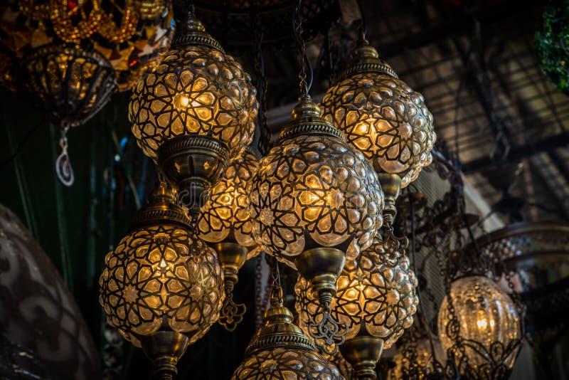 Oosterse lampen stock afbeelding