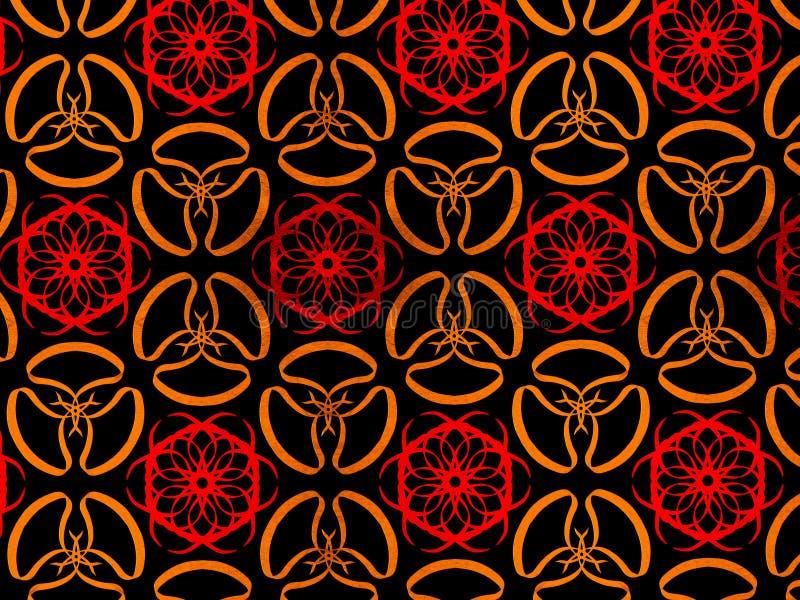 Oosterse patroon gouden kleur, illustratie Bloem Mandala Uitstekende decoratieve elementen Ornament Ge?soleerd op een zwarte acht royalty-vrije illustratie