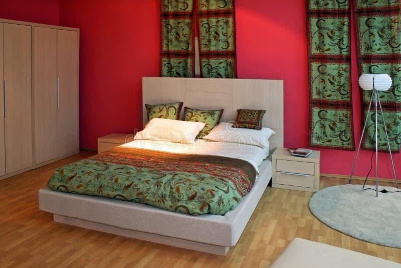 Oosterse slaapkamer royalty-vrije stock foto's