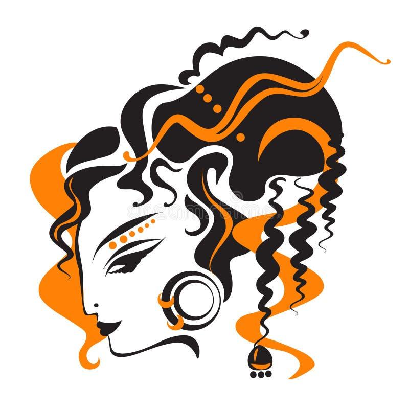 Oosterse Vrouw vector illustratie