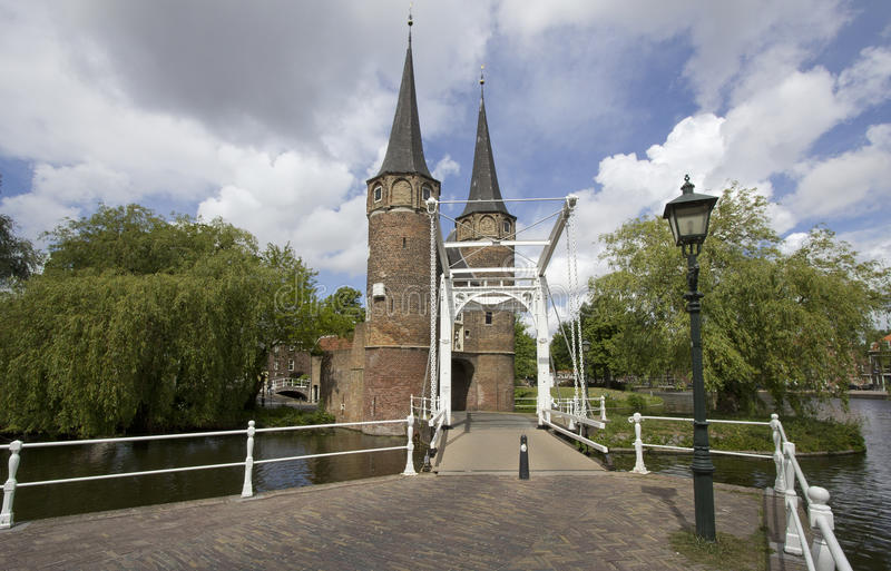 Oostpoort in Delft, Holland stockfoto