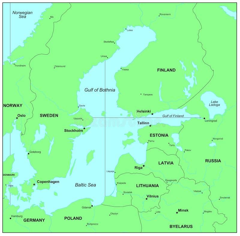 Oostzee stock illustratie