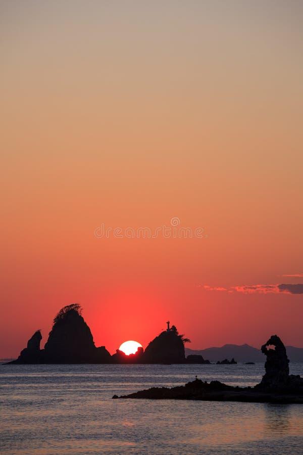 Ootago coast of sunset. Izu, Shizuoka, Japan royalty free stock photo