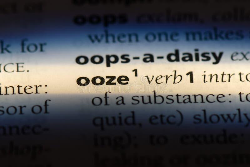 ooze stock image